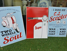 VESPA Scooter - 3 x Art Prints - Large A3 size - Mod - The Who Set of 3 Posters
