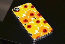 Modern Flour Art Yellow Beautiful Phone Case Fits iPhone 4 4s 5 5s 5c 6