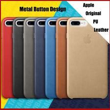 Apple Luxury PU Leather Metal Button Case Cover For Iphone X 8 7 6 6S Plus