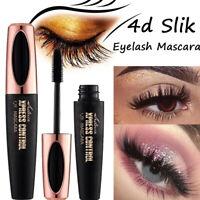 Black 4D Silk Fiber Eyelash Mascara Waterproof Extension Makeup Eye Lashes Thick