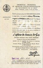 L' AFFAIRE DU COURRIER DE LYON Epoq 1 Tribunal Justice Poirier GAUMONT Film 1923