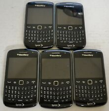 BlackBerry Curve 9350 Black Sprint Smartphone Cellphone Lot of 5