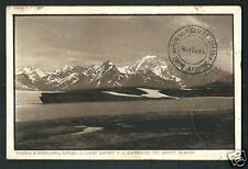 Piccolo San Bernardo ( Aosta ) : Lago Longet - cartolina viaggiata 1929