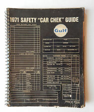 Vintage 1971 Gulf Oil Safety Car Check Shop Manual Guide /  Book Complete Used