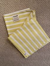 Seasalt Cotton Breton Tea Towels X 2 Yellow & White Stripe NWOT