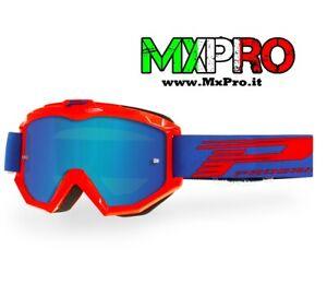 Progrip 3201FL occhiale OTG maschera cross enduro motard moto LENTE SPECCHIATA