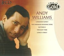 ANDY WILLIAMS THIS IS GOLD - 3 CD BOX SET - CANADIAN SUNSET, BUTTERFLY & MORE