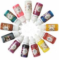12Pcs UV Resin Liquid Pearl Dye Pigment Resin Epoxy For DIY Making Jewelry Craft