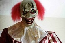 Spirit Halloween 7 Ft Towering Creepy Clown Animatronic Prop Grimsli the Great