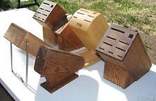 Lot Bundle of 5 Vintage Chicago Cutlery & (1) Cutco Knife Blocks = 6 total
