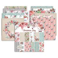 12Pcs Flower Paper Pad Scrapbooking Happy Planner Card Making Journal Album DIY