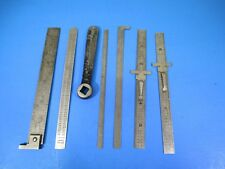 NOS Lot of Eight Stainless Steel Machinist Tools V25 B2