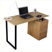 Techni Mobili Computer Desk with Storage and File Cabinet in Pine
