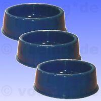 3x Kunststoff Fressnapf 365 ml Fress Napf Schüssel Trinknapf Hunde Katzen blau