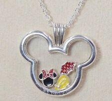 Pandora Disney Micky Floating Locket Necklace 397177-75 + 3 Petites Gift Packing