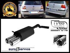SILENCIEUX POT D'ECHAPPEMENT VW GOLF IV 1997-2000 2001 2002 2003 2004 TIP 2x80