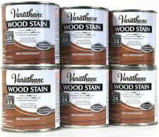 6 Cans Varathane 8 Oz Ultimate Wood Stain One Coat 266272 Red Mahogany 1 Hr Dry