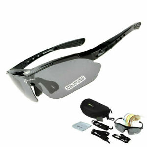 RockBros Cycling Glasses Sports Sunglasses Goggles Polarized Replace Lenses