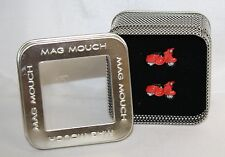 Sports Mad Cuff Links Mag Mouch Red Scooter Bike Linked to Success NIP New