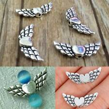 20 Pcs Lovely Heart Angel Wings Pendant Bracelet Crafts Charms Beads DIY Jewelry