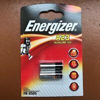 NEW ENERGIZER A23 Alkaline Batteries MN21 LRV08 12V - Pack of 2 batteries