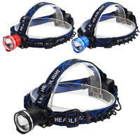 Zoomable 5000LM XM-L T6 LED Head Lamp Flashlight Headlight  AA Battery Light
