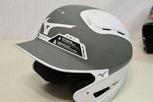 Mizuno B6 Gray White Baseball Batting Helmet Small/Medium