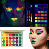 24Colour Eyeshadow Palette Glitter-Matte Glow In Dark Party hot Halloween Z1L7