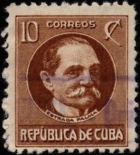 Spanish West Indies - 1917 - 10 Cents Yellow Brown Tomas Estrada Palma #270 F-VF