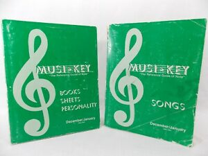 MUSI KEY DEALER EX 2 VOLUME SET Guides To All Songs Books Sheet Music up to 1993