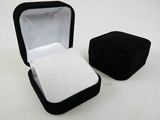Velvet Earring Box Black Flock Jewellery Display Case