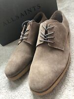 """ALL SAINTS MEN'S TAUPE """"RANDEL"""" SUEDE SHOES BOOTS - UK 7 & UK 11 - NEW & BOXED"""