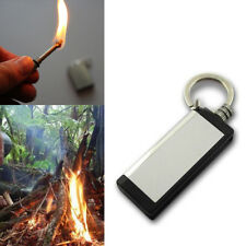 1PCS Permanent Striker Lighter Stainless Steel Match Silver Metal Key chain Q6g