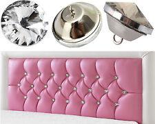 Diamante Crystal Glass Button Round Upholstery Headboard Chair Sofa Decor20/25mm