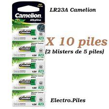 Lot de 10 piles/cells spéciales LR23A 12V alcaline Camélion