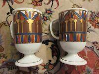 Vintage Holt Howard Footed Mugs lot of 2 Retro