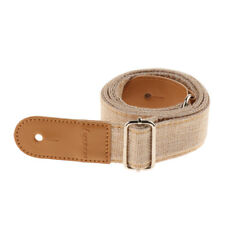 Ukulele Strap Belt with PU Leather Ends for Acoustic Electric Guitar -Cream