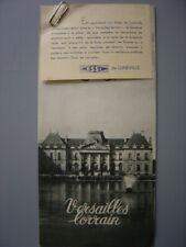 Ancien dépliant touristique  Guide de Lunéville  Château