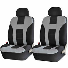 NEW 4 PIECE GRAY & BLACK FRONT CAR SEAT COVERS SET for Nissan Hyundai Toyota