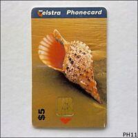 Telstra Trumpet Triton Shell 98005028N $5 Phonecard (PH11)