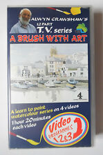 A BRUSH WITH ART VIDEO VHS ALWYN CRAWSHAW PROGRAMMES 1,2 & 3 1991 1 HR 20 MINS