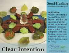 SEND HEALING Healing Crystal Grid Card 4x5inch Heavy Card Stock Flower of Life