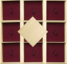"New TSUBA BOX Set Japanese Wooden Storage Box <Dark Red> x 10 ""Made in Japan"""