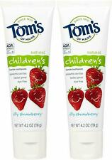 (2 Pack) Tom's Silly Strawberry w/Fluoride Kids Toothpaste - 4.2 oz each
