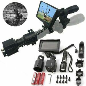 "DIY Night Vision Scope Day Night Rifle Scope w/ 850nm IR Torch 4.3"" LCD Screen"