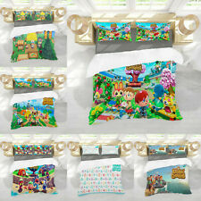 Animal Crossing 3PCS Bedding Set Duvet Cover Pillowcases Quilt Cover Kids Gift