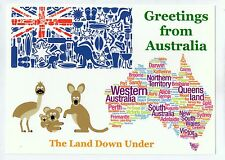 D9182rut Australia The Land from Down Under postcard