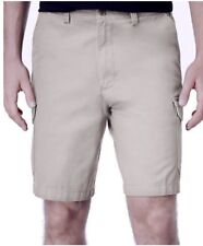 Men's Geoffrey Beene Big and Tall washed Twill Cargo Short, Stone, Size: W 50
