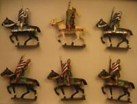 CBG Mignot Set #203 Mounted Crusaders 11c - Mint Tied in the Box Set circa 1980