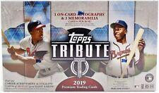 2019 Topps Tribute Baseball Factory Sealed 6 Box Hobby Case